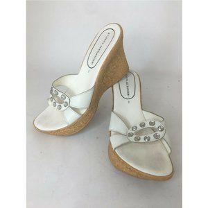 Athena Alexander Cork Wedge Platform Sandals